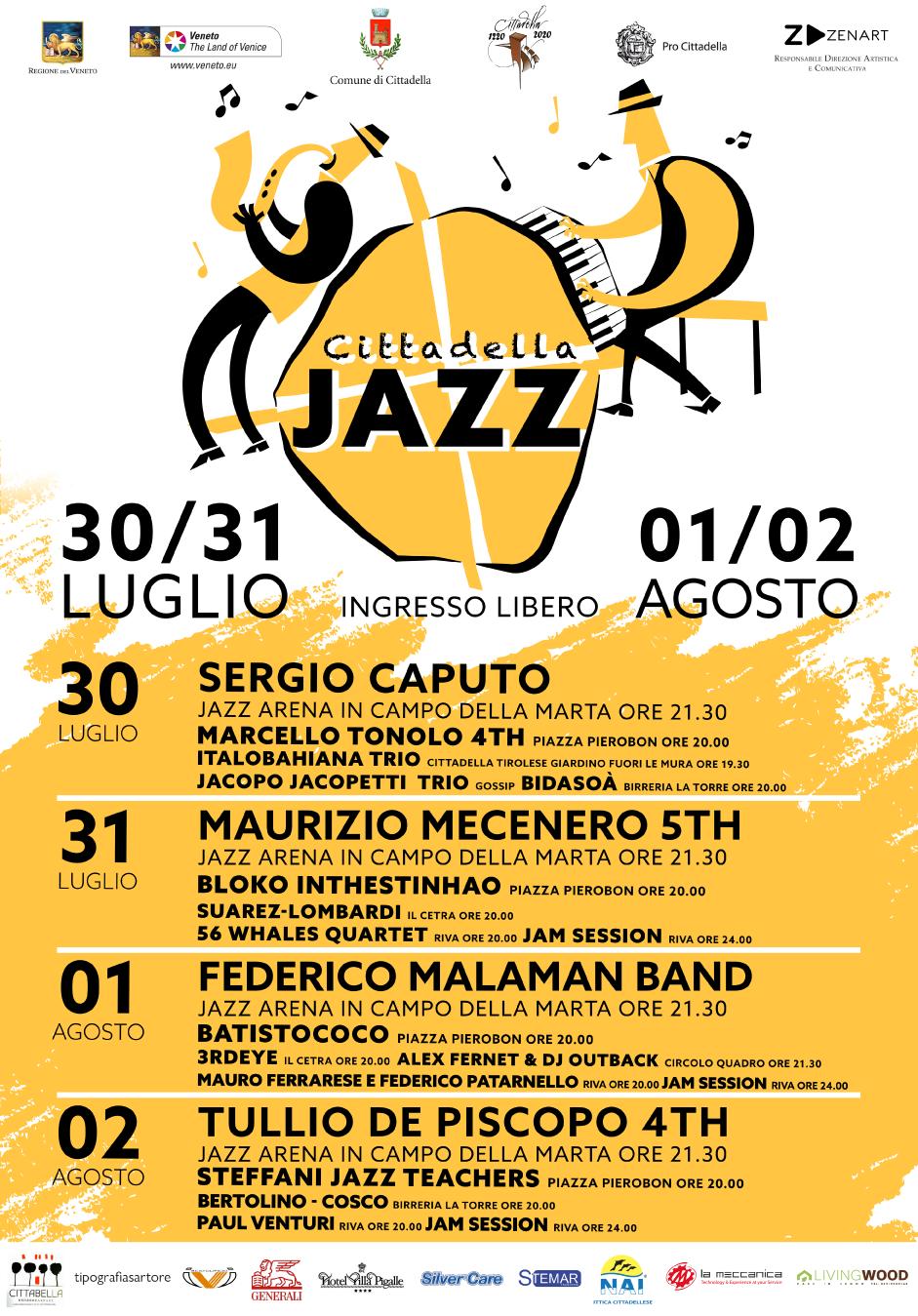 1° Cittadella Jazz Festival - 30 e 31 Luglio, 1 e 2 Agosto 2020