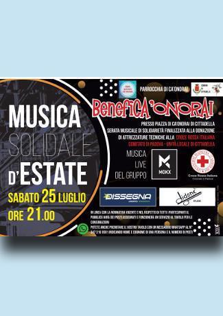 Musica Solidale d'Estate a Ca'Onorai
