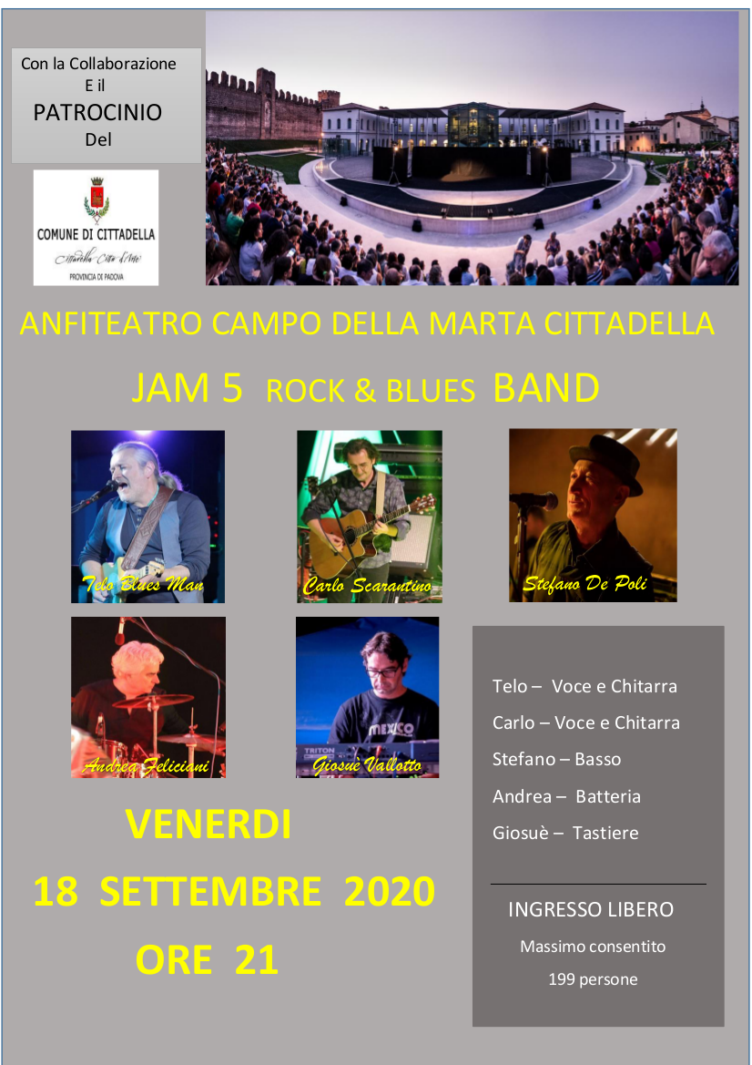 Jam 5 Rock&Blues Band in concerto