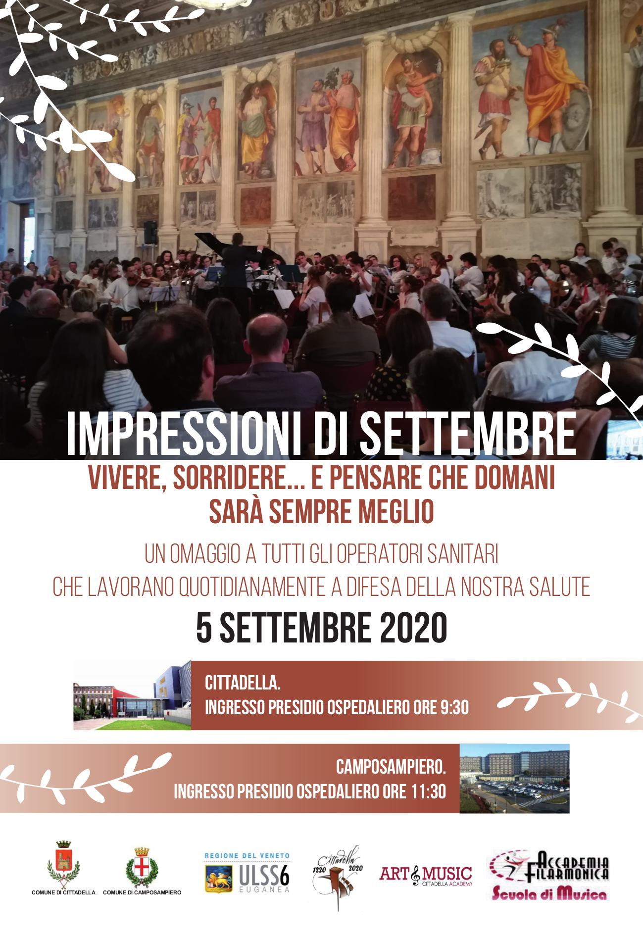 Impressioni di Settembre - Concerto in omaggio a tutti gli operatori sanitari