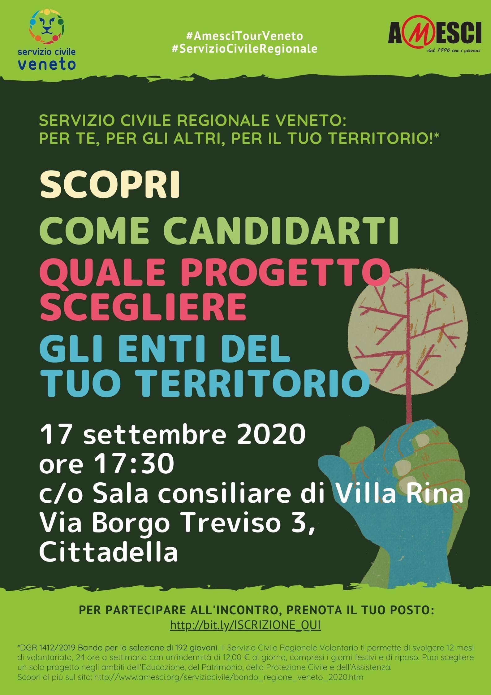 Serata di presentazione Servizio Civile Regionale Veneto