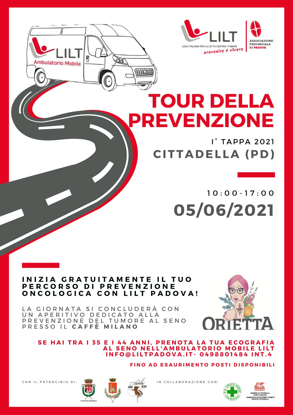 LILT tour della prevenzione Cittadella