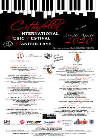 6^ edizione Cittadella International Music Festival & Masterclass