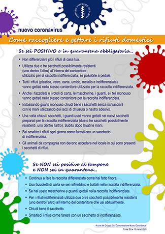 Emergenza coronavirus come raccogliere e gettare i rifiuti domestici