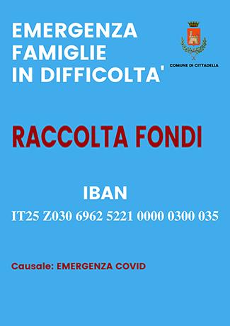 Raccolta fondi - emergenza famiglie in difficoltà