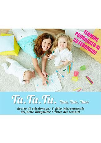 """Riapertura termini progetto """"TA.TA,TU - Tato, Tata, tutor"""""""